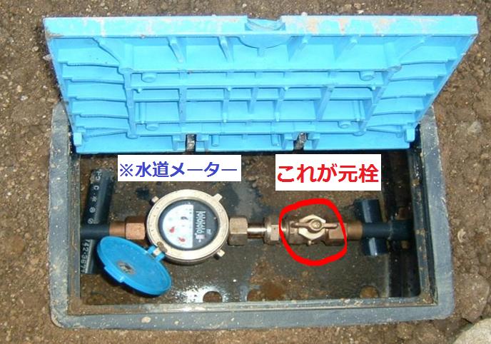水漏れの見分け方:水道メーター
