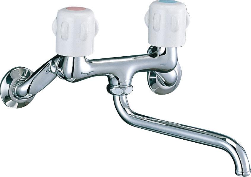 交換前に知りたい蛇口・水栓の種類:壁付きツーハンドル