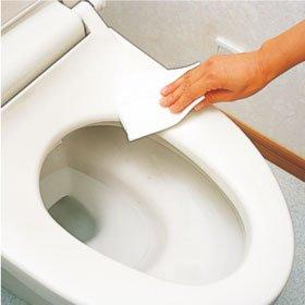 代表的なトイレが詰まる原因:お掃除シート