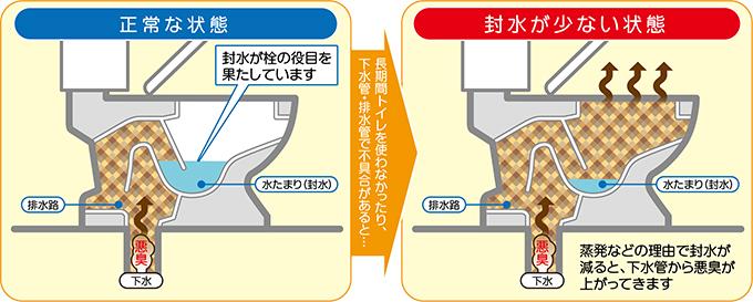 トイレ つまり 水位 下がる トイレの水位が急に下がる原因!水量が少ない時の調整と対処法