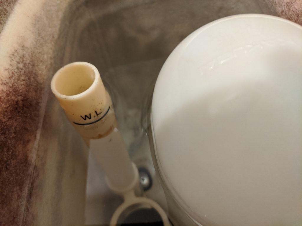 オーバーフロー管の「-WL-」